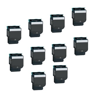 10PK Compatible 701HK Toner Cartridge for Lexmark CS310DN CS310N CS410DN CS410N (Pack of 10)
