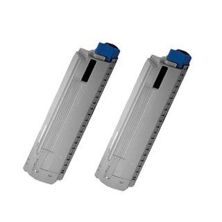 2PK 44059216 Compatible Toner Cartridge for Oki MC860 MC860 MFP (Pack of 2)
