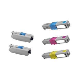 1Set + 1BK 44469801 44469703 44469702 44469701 Compatible Toner Cartridge for Oki C330 C330DN C530 C530DN MC361 (Pack of 5)