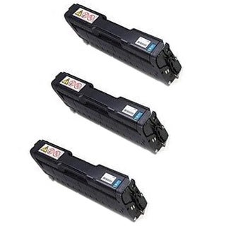 3PK 407654 Compatible Toner Cartridge for Ricoh SP C252DN SP C252SF (Pack of 3)
