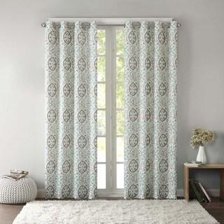 Intelligent Design Rimini Cotton Medallion Printed Window Curtain Panel