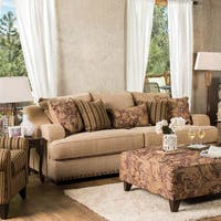 Shellie Transitional Tan Sofa by FOA