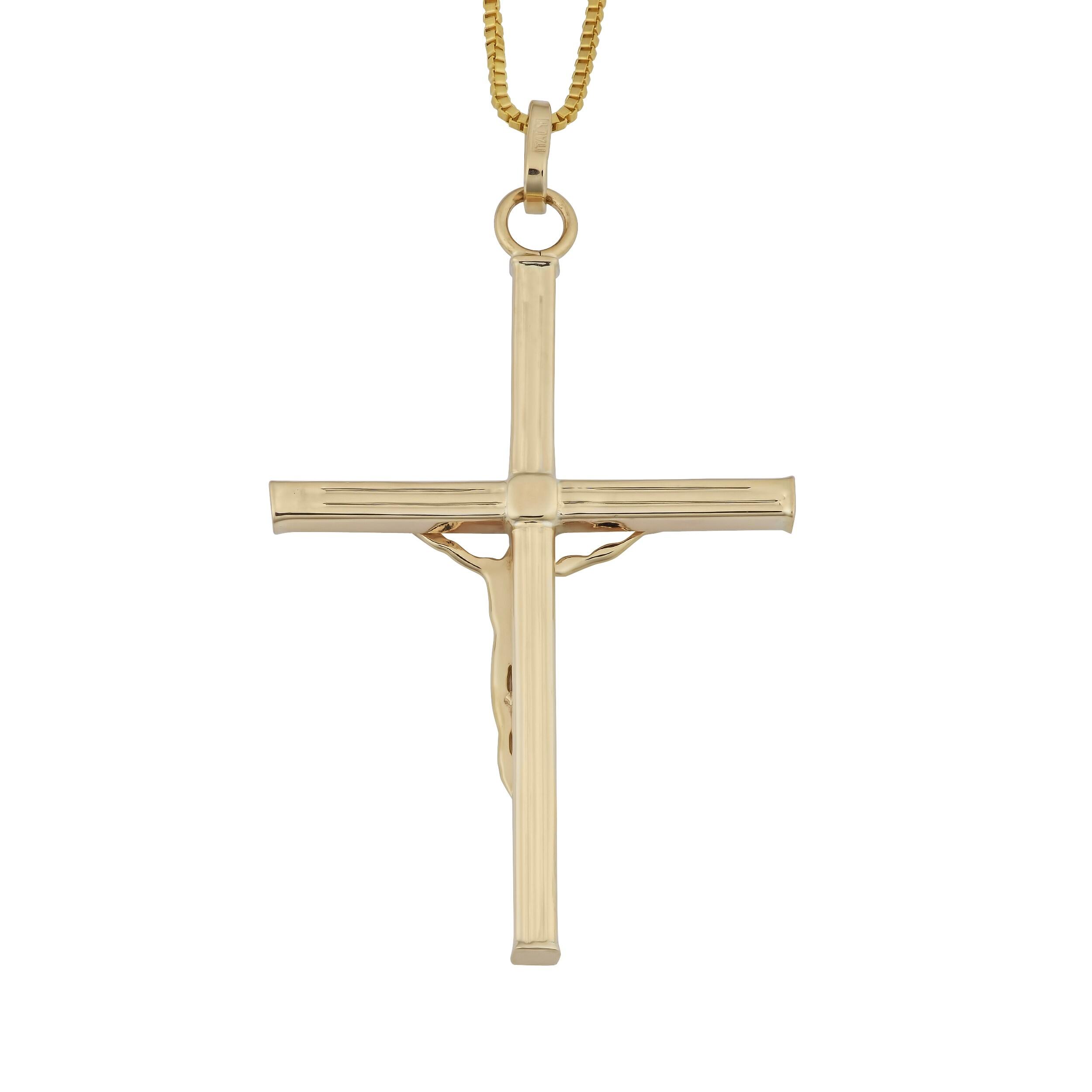 Cross Pendant Hollow 3D Crucifix