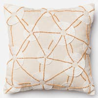 Hand-beaded Beach Ivory 18-inch Throw Pillow or Pillow Cover