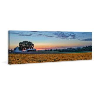 Marmont Hill - Sundown on the Farm Painting Print on Canvas