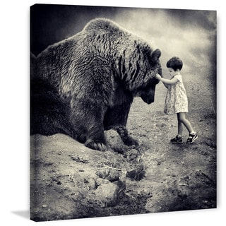 Marmont Hill - Gentle Bear Painting Print on Canvas