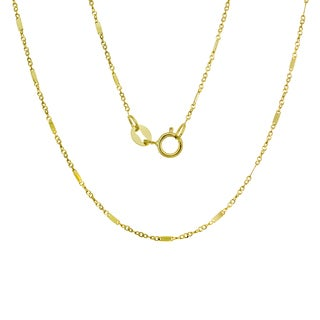 14K Gold Italian Bar Link Chain (16-20 inches )