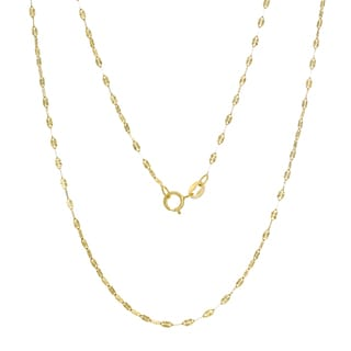 14K Gold Italian Sun Link Chain (16-20 inches )