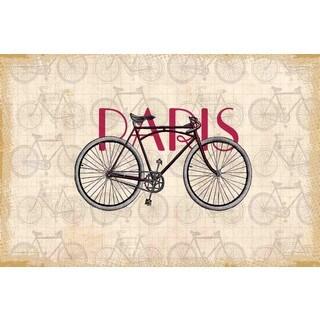 Marmont Hill - Paris Bike Painting Print on Canvas