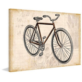 Marmont Hill - Red Bike Painting Print on Canvas