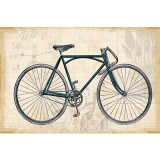 Marmont Hill - Green Bike Painting Print on Canvas