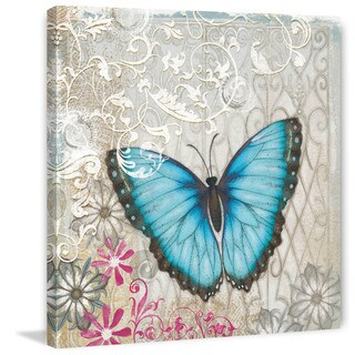 Marmont Hill - A Light Blue Butterfly Painting Print on Canvas