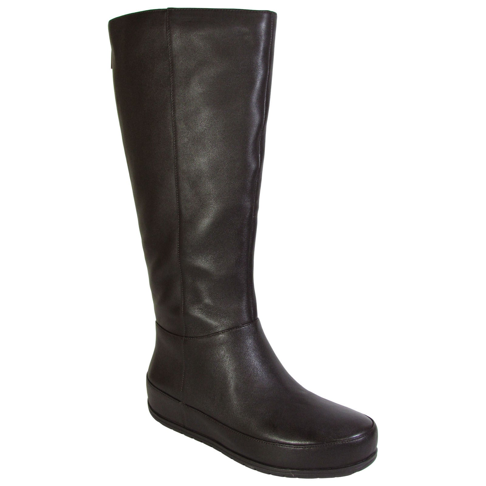 25cd48988ea Details about Fitflop Womens DueBoot Twisted Zip Knee High Boots