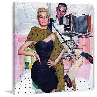 Marmont Hill - Model Wife by Joe de Mers Painting Print on Canvas