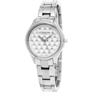 Stuhrling Original Women's Audrey Swiss Quartz Crystal Stainless Steel Bracelet Watch