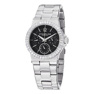 Stuhrling Original Women's Angelic Quartz Crystal Stainless Steel Bacelet Watch