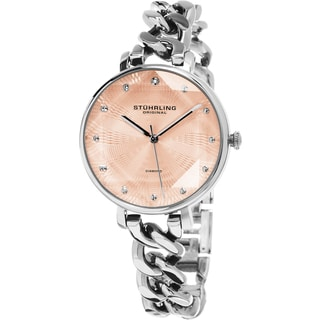 Stuhrling Original Women's Vogue Quartz Diamond Stainless Steel Bracelet Watch