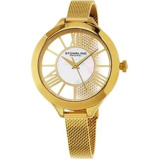 Stuhrling Original Women's Winchester Quartz Gold Tone Mesh Band Watch