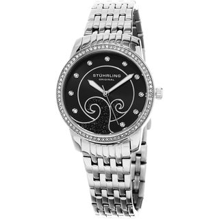 Stuhrling Original Women's Coronet Quartz Crystal Stainless Steel Bracelet Watch