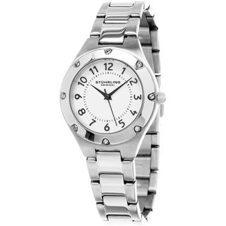 Stuhrling Original Women's Classique Quartz Stainless Steel Bracelet Watch - STAINLESS STEEL