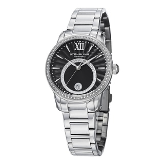 Stuhrling Original Women's Symphony Crystal Stainless Steel Bracelet Watch