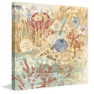 Marmont Hill - Floral Frenzy Coastal V Painting Print on Canvas