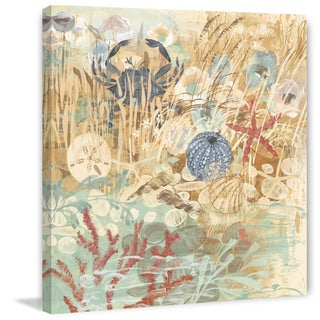 Marmont Hill - Floral Frenzy Coastal II Painting Print on Canvas