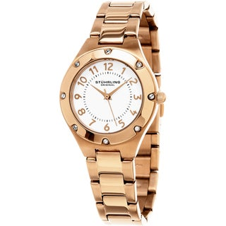 Stuhrling Original Women's Classique Quartz Rose Tone Bracelet Watch