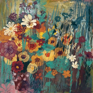 Marmont Hill - Floral Frenzy Green II Painting Print on Canvas