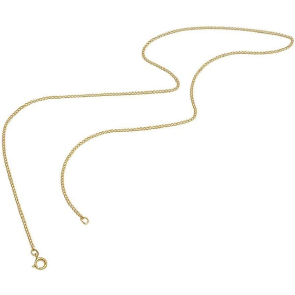 Pori Genuine Yellow Gold Overlay Cuban Chain Necklace