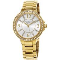 Stuhrling Original Women's Allure Quartz Crystal Gold Tone Bracelet Watch