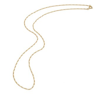 Pori Genuine Yellow Gold Overlay Figaro Chain Necklace