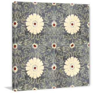 Marmont Hill - Cream Floral Painting Print on Canvas