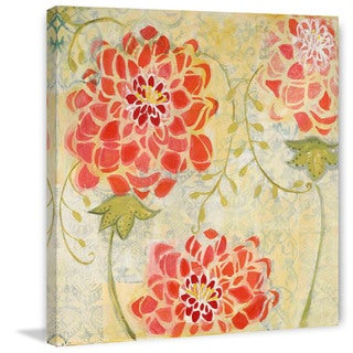 Marmont Hill - Orange Floral Painting Print on Canvas