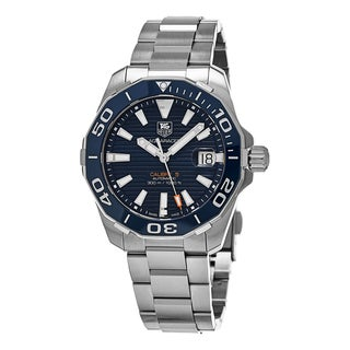 Tag Heuer Men's WAY211C.BA0928 '300 Aquaracer' Blue Dial Stainless Steel Swiss Automatic Watch