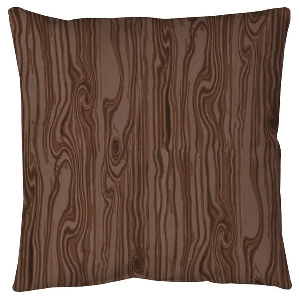 Wood Grain Large Scale Brown Floor Pillow