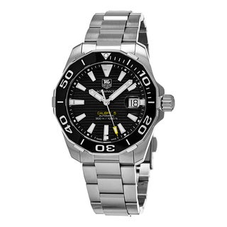 Tag Heuer Men's WAY211A.BA0928 '300 Aquaracer' Black Dial Stainless Steel Swiss Automatic Watch