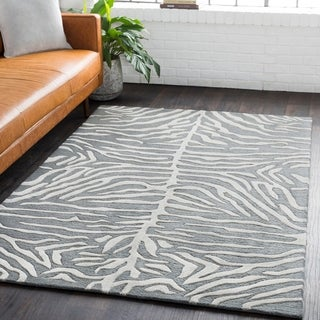 Hand-Tufted Belt Wool Rug (5' x 8')