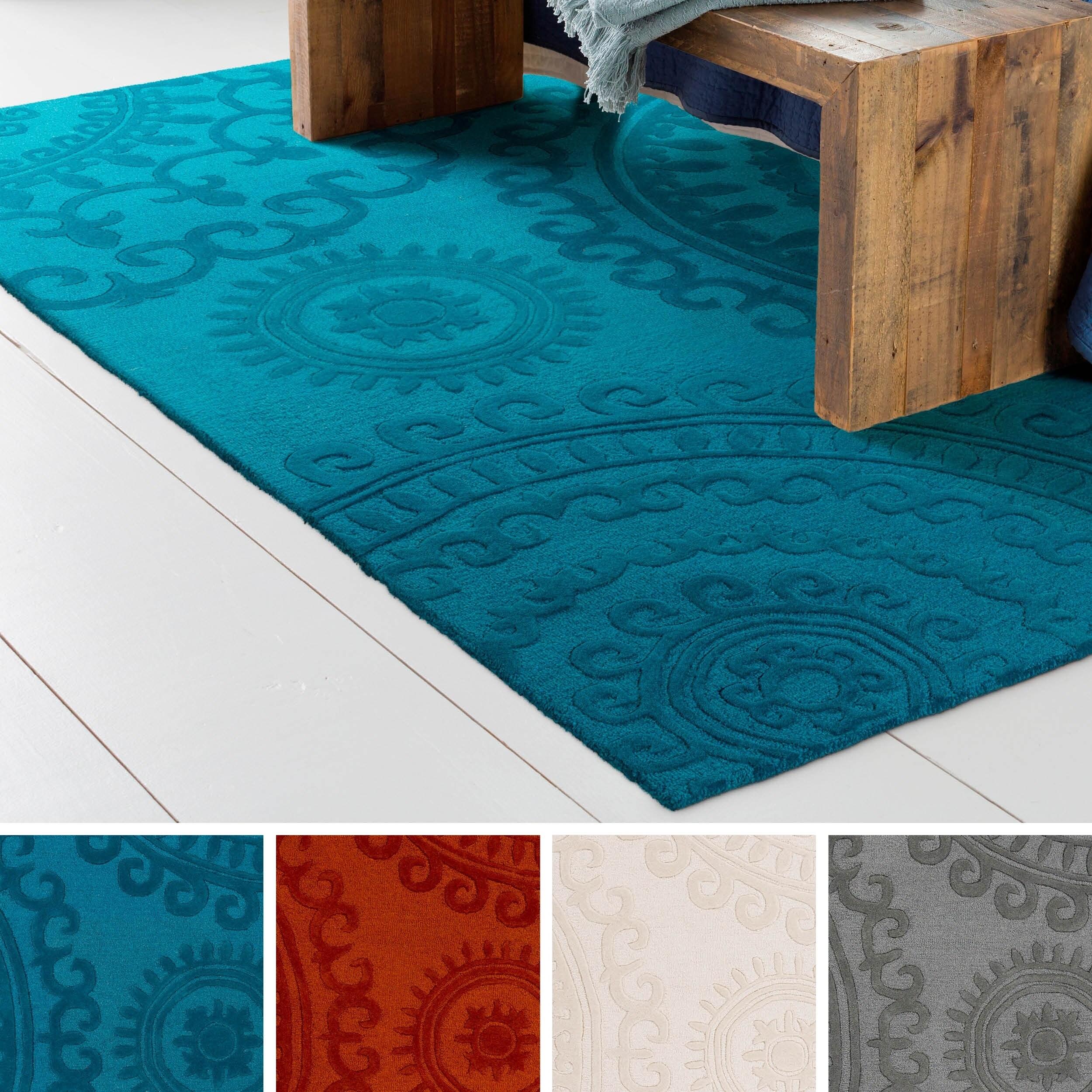 Shop Hand Tufted Bird Wool Rug 8 X 10 Free Shipping