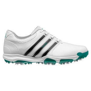Adidas Men's Tour 360 X Running White/ Core Black/ Power Green Golf Shoes