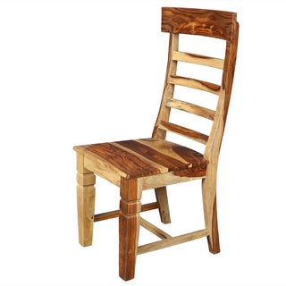 Handmade Porter Taos Solid Sheesham Ladder Back Dining Chair (India)