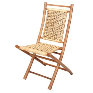 Brown Finish Bamboo Folding Chair