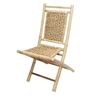 Natural Finish Bamboo Folding Chair