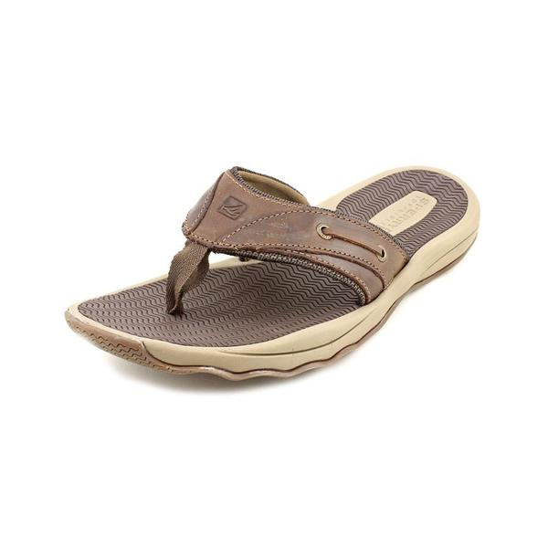 d7c5c41db8114a Shop Sperry Top Sider Men's 'Outer Banks Thong' Leather Sandals ...
