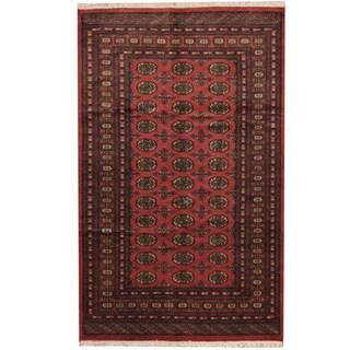 Herat Oriental Pakistani Hand-knotted Prince Bokhara Wool Rug - 5' x 8'