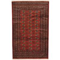 Handmade Herat Oriental Pakistani Prince Bokhara Wool Rug (Pakistan) - 5' x 8'