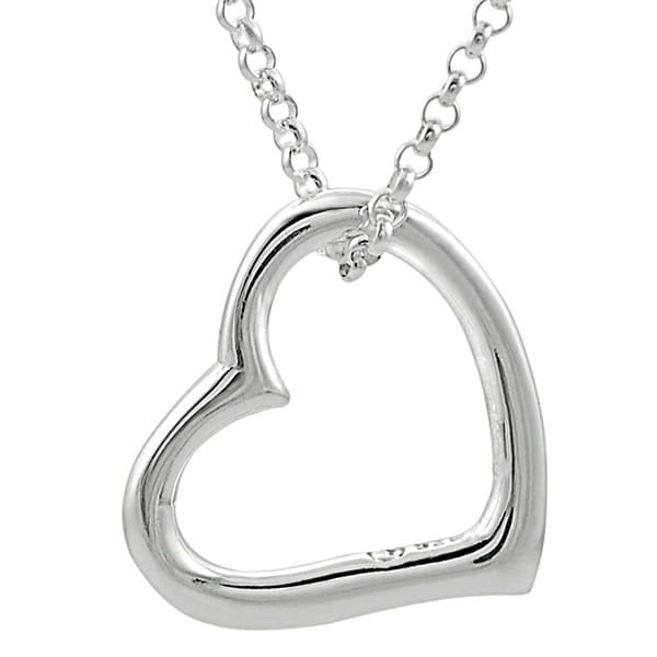 Sterling Silver Cut-out Heart Pendant