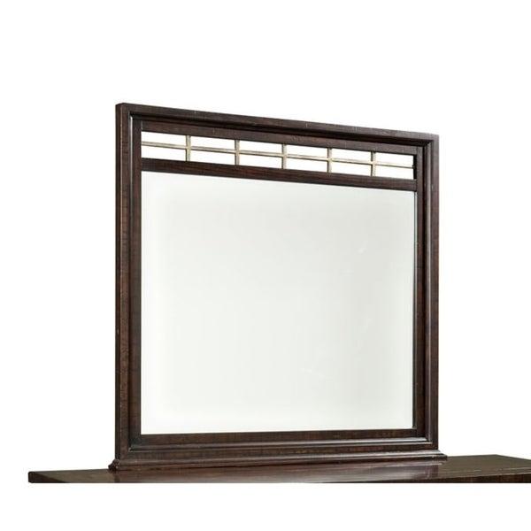 Hayden Solid Pine Landscape Mirror w/ Metal Accents - Espresso
