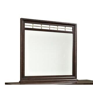 Hayden Solid Pine Landscape Mirror w/ Metal Accents