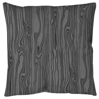 Wood Grain Large Scale Black Floor Pillow